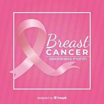 Borstkanker bewustzijn met roze lint