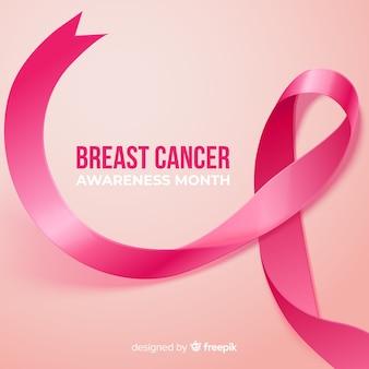 Borstkankerbewustzijn met realistisch lint