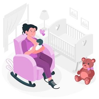 Borstvoeding concept illustratie