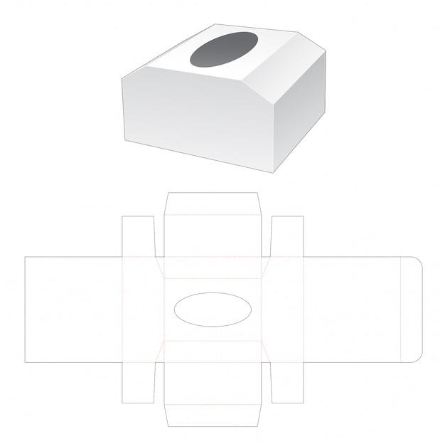 Borstvormige tissue box gestanst sjabloon