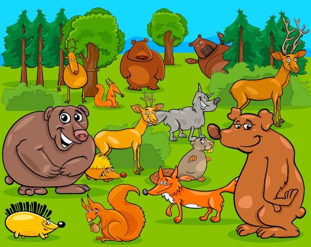 Bos dieren cartoon afbeelding