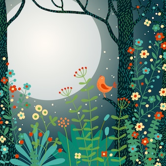 Bos illustratie