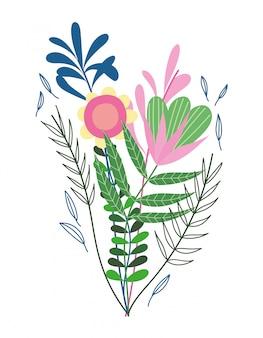 Bos van bloemen takken vegetatie aard wilde plantkunde