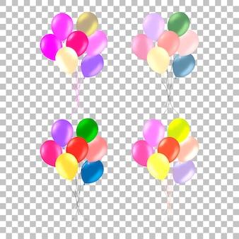 Bos van kleurrijke heliumballons