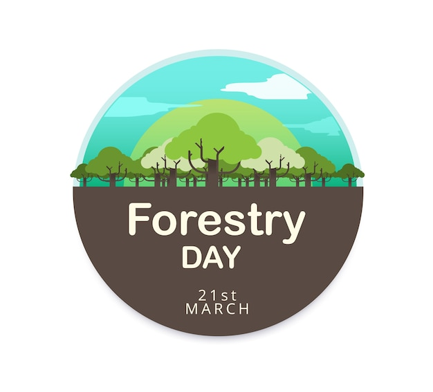 Bosbouw dag logo ontwerp