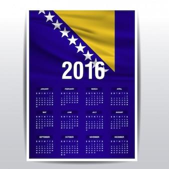 Bosnië en herzegovina kalender van 2016