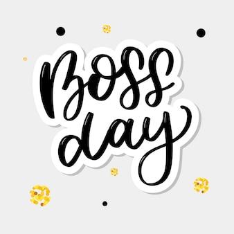 Boss dag. belettering