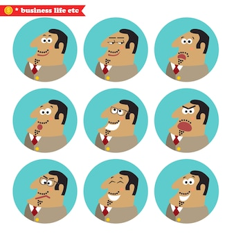 Boss gezichts emoties