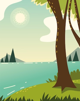 Bosscène boom rivier