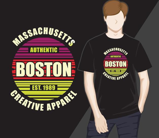Boston creatieve kleding typografie t-shirt ontwerp
