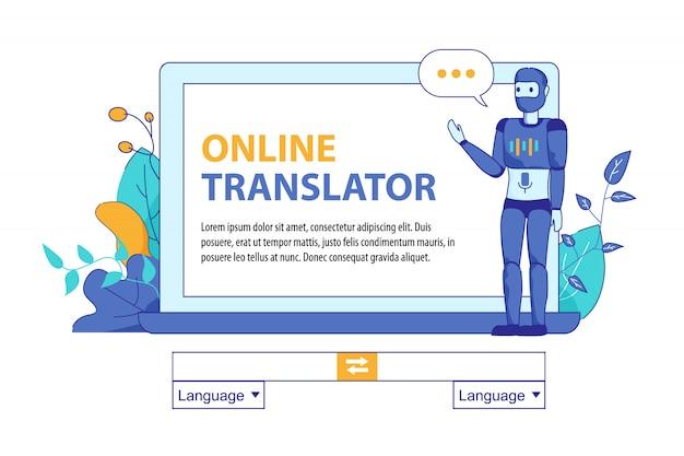 Bot kunstmatige intelligentie voor online vertalingen