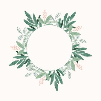 Botanisch frame met bloemen en bladeren