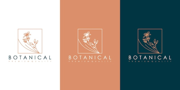 Botanisch logo-ontwerp
