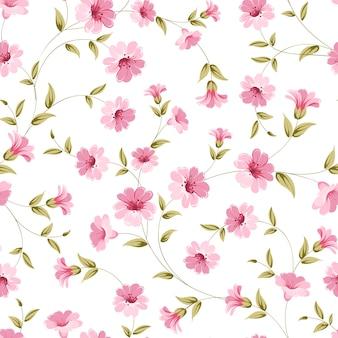 Botanisch naadloos patroon. bloeiende bloem