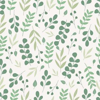 Botanisch naadloos patroon. florale achtergrond.