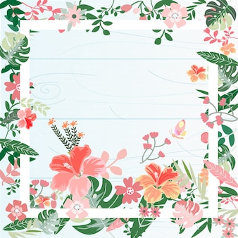 Botanisch tropisch bloemkader