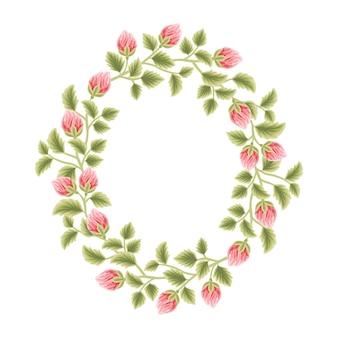 Botanisch vrouwelijk montuur met bloemendecoraties voor dames