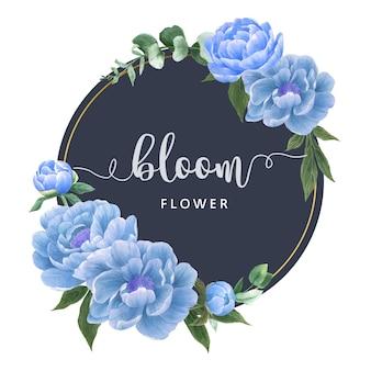 Botanische bloemen elegantie krans