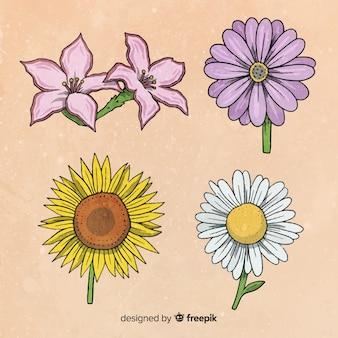 Botanische bloemen- en bladerencollectie
