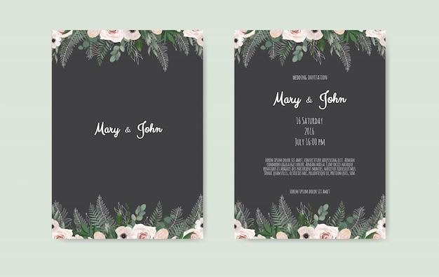 Botanische bruiloft uitnodigingskaart