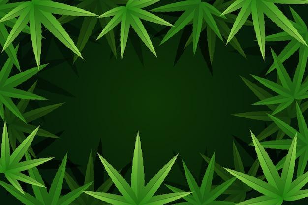 Botanische cannabis blad achtergrond