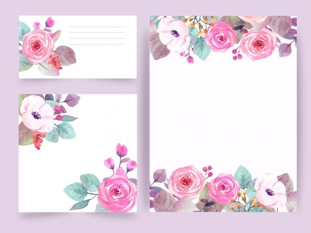 Botanische compositie voor bruiloft of wenskaart