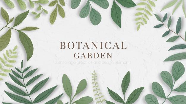 Botanische lijst op een beige achtergrond