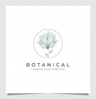 Botanische logo-inspiratie