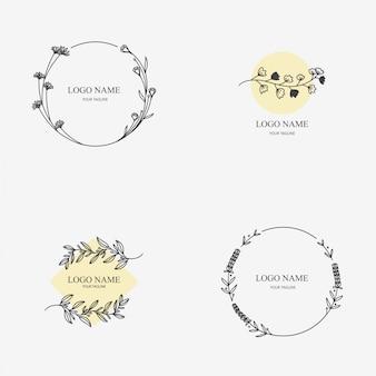 Botanische logo-sjablonen