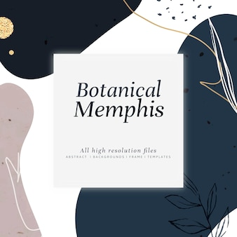 Botanische memphis ontwerp illustratie
