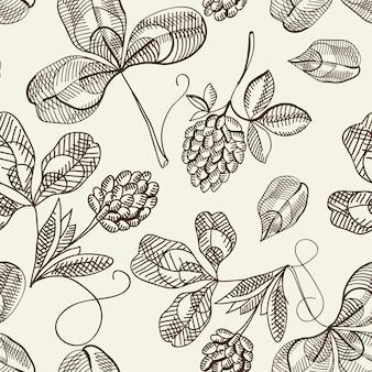 Botanische naadloze patroon