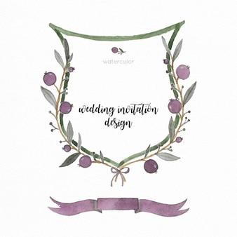Botanische ontwerp van de huwelijksuitnodiging