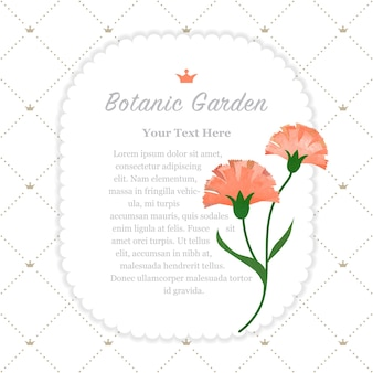 Botanische tuin frame oranje anjers