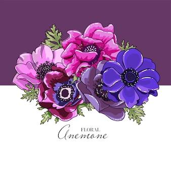 Botanische wenskaart of vierkante bruiloft uitnodiging kaartsjabloon