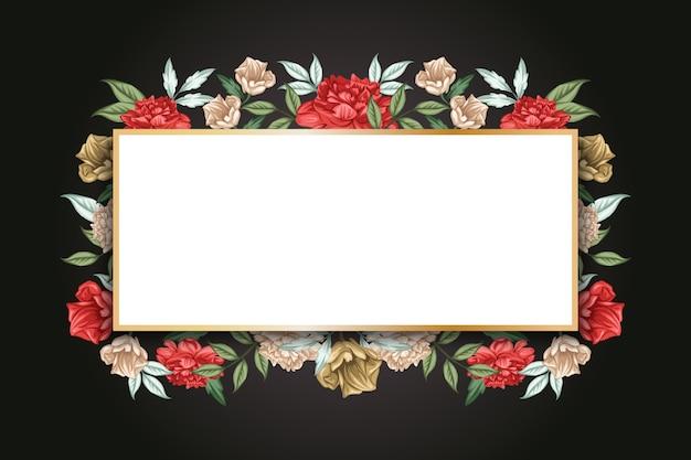 Botanische winterbloemen met lege banner