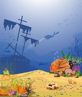 Boten en oude koraalduikers.