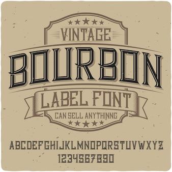 Bourbon vintage belettering
