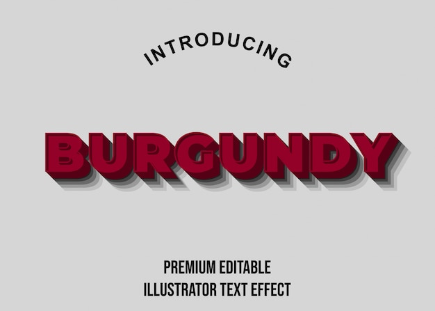 Bourgondië - 3d-tekststijl lettertype-effecten