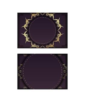 Bourgondische flyer met griekse gouden ornamenten voor uw merk.
