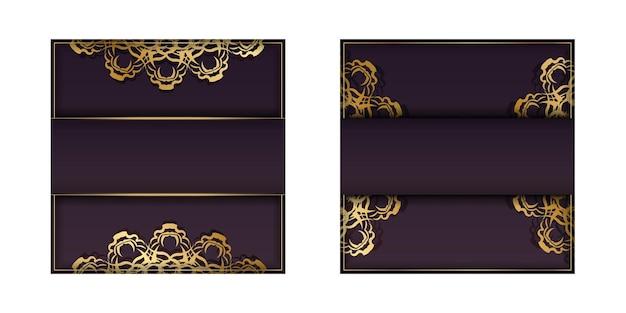 Bourgondische flyer met luxe gouden ornamenten voor uw felicitaties.