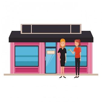 Boutique zakelijke cartoons
