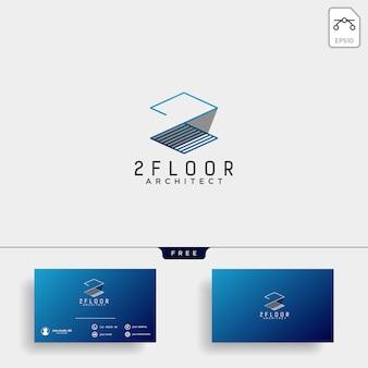 Bouw architect logo ontwerp pictogram vectorelement