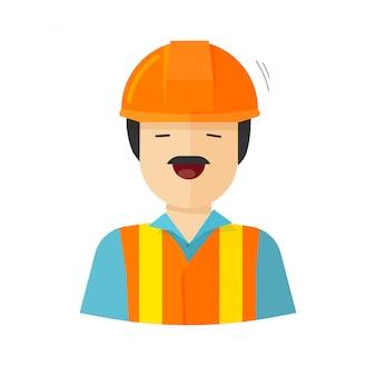 Bouw bouwer karakter of werknemer