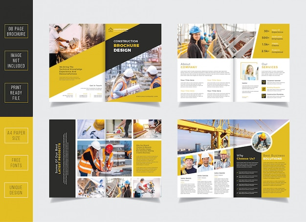Bouw brochure sjabloon