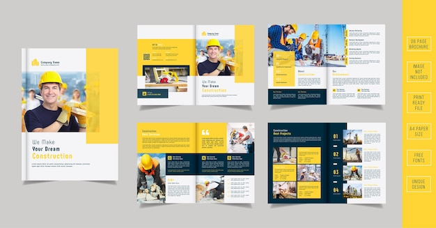 Bouw brochure template design