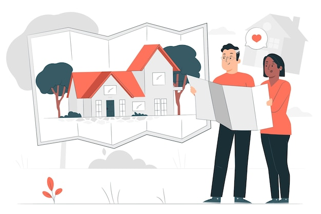 Bouw de illustratie van uw huisconcept