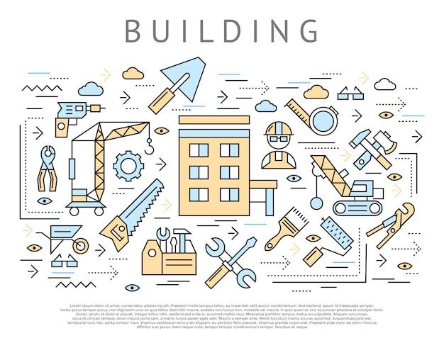 Bouw en constructie concept