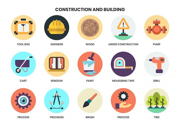 Bouw pictogrammen instellen voor het bedrijfsleven
