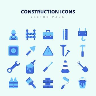 Bouw pictogrammen vector pack