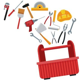 Bouw toolbox-service vector ilustration pictogram stedelijk